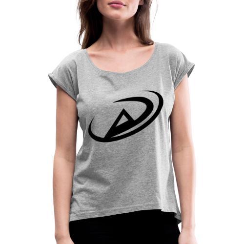 Agonia SMP logotyp - T-shirt med upprullade ärmar dam