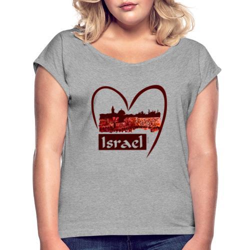 Jerusalem - I love Israel - Sunset - Frauen T-Shirt mit gerollten Ärmeln