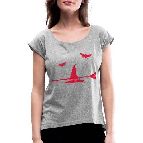 motif Chapeau - T-shirt à manches retroussées Femme
