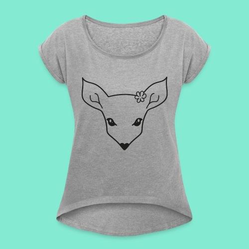 little fawn t-shirt - Maglietta da donna con risvolti