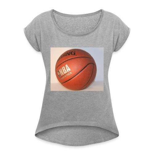 ball_flickr - Naisten T-paita, jossa rullatut hihat