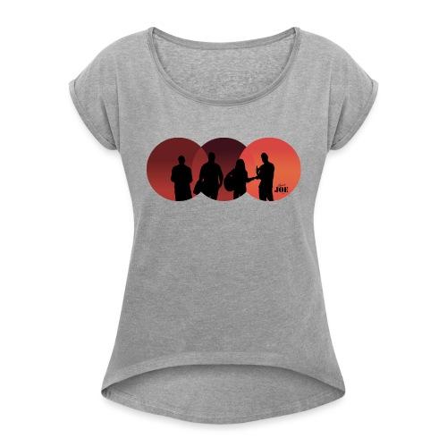 Motiv Cheerio Joe redish - Frauen T-Shirt mit gerollten Ärmeln
