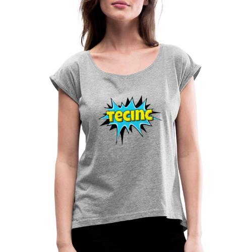 Cartoon logo - Dame T-shirt med rulleærmer