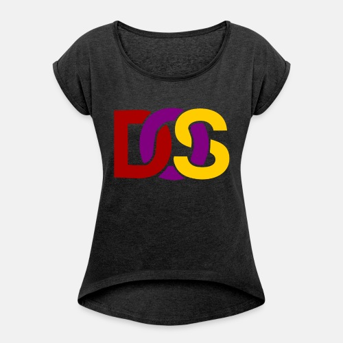 Retro MS DOS Logo - Women's T-Shirt with rolled up sleeves