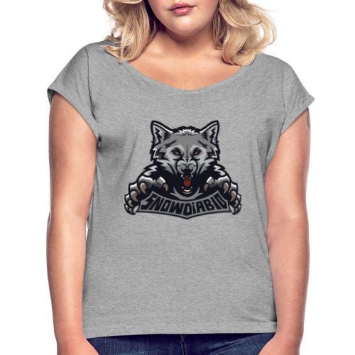 snowdiablo officiel logo - T-shirt à manches retroussées Femme