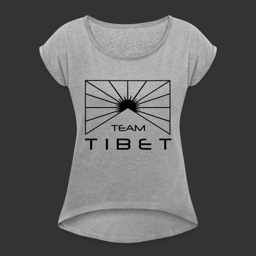 Team Tibet - Frauen T-Shirt mit gerollten Ärmeln