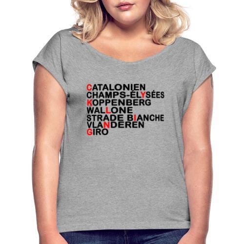 CYKLING - Dame T-shirt med rulleærmer