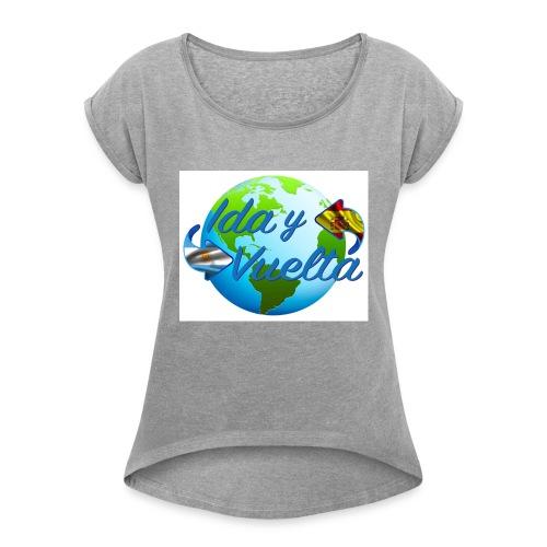 Ida y Vuelta-jpeg - Camiseta con manga enrollada mujer