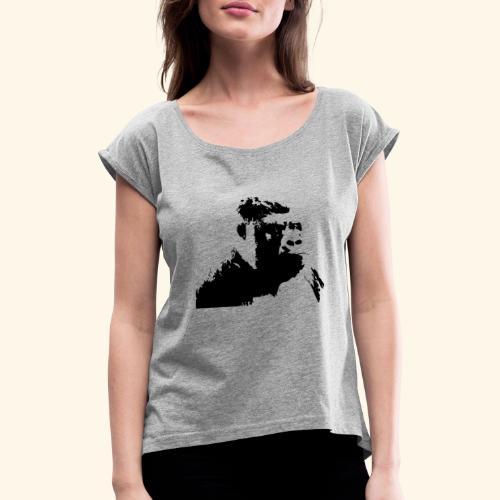 gorilla t-shirt - T-shirt à manches retroussées Femme