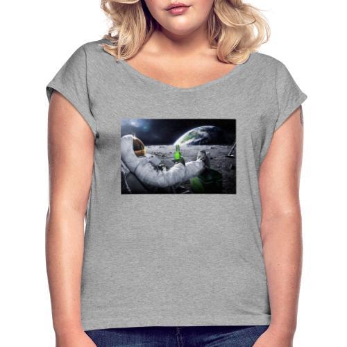 AstroBeer - Frauen T-Shirt mit gerollten Ärmeln
