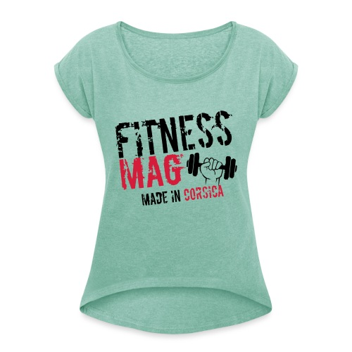 Fitness Mag made in corsica 100% Polyester - T-shirt à manches retroussées Femme