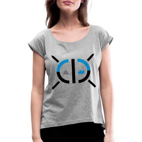 2k19 mer et montagne - T-shirt à manches retroussées Femme