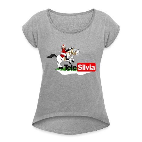 massimomungiell FO5B357CE681 - Maglietta da donna con risvolti