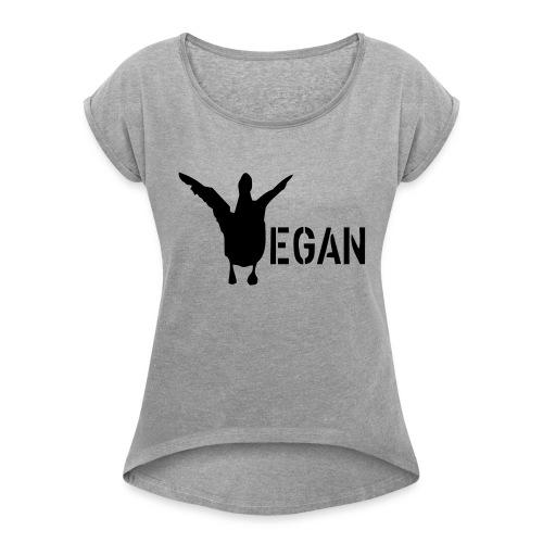 venteklein - Frauen T-Shirt mit gerollten Ärmeln