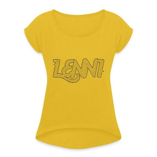 Lenni transparent - Naisten T-paita, jossa rullatut hihat