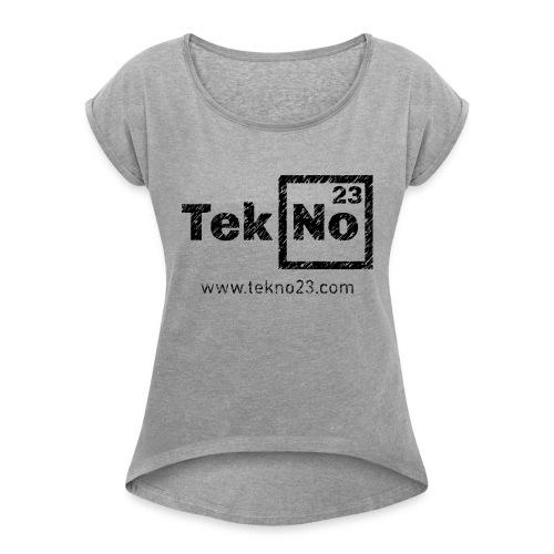 jj00 - Frauen T-Shirt mit gerollten Ärmeln