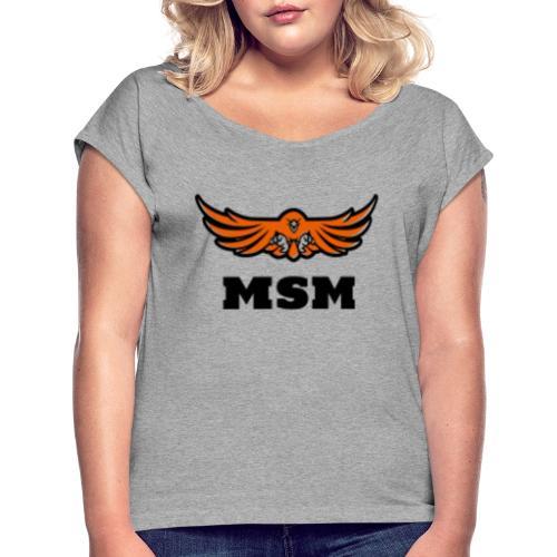 MSM EAGLE - Dame T-shirt med rulleærmer