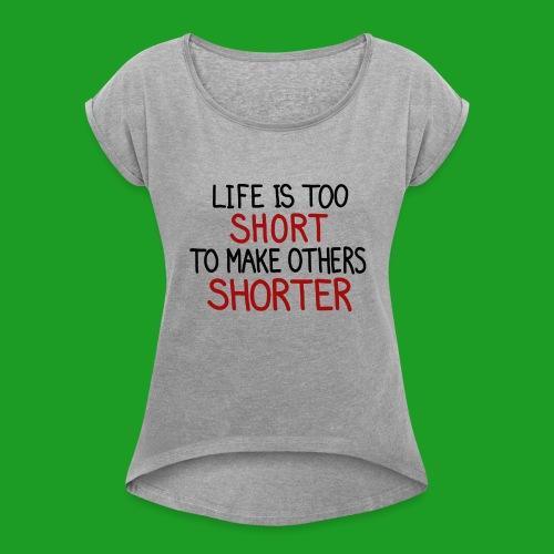 Vegan - T-shirt à manches retroussées Femme