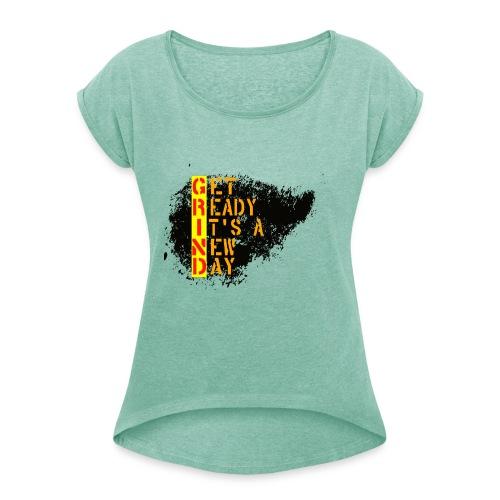 New Fresh Day - T-shirt à manches retroussées Femme