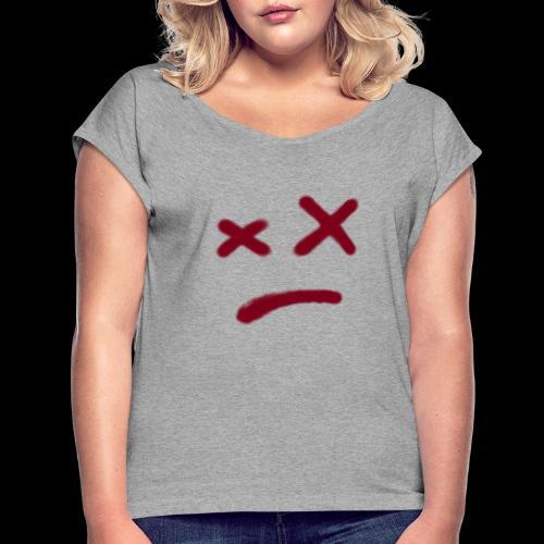 Mikel - Camiseta con manga enrollada mujer