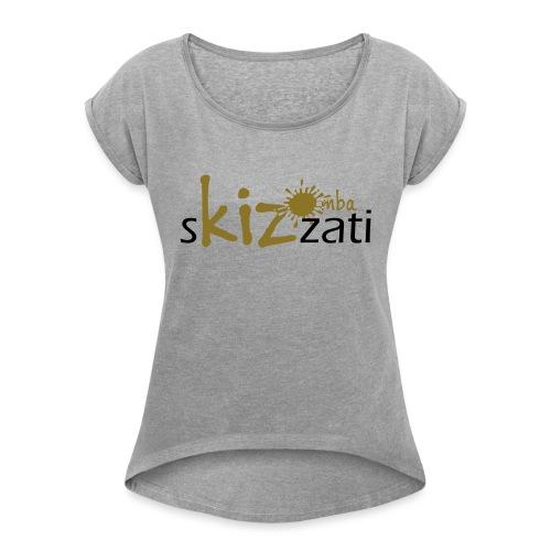 Beanie in jersey con logo sKizzati Kizomba - Verde - Maglietta da donna con risvolti