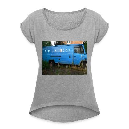 Lähekkö keikalle - Naisten T-paita, jossa rullatut hihat