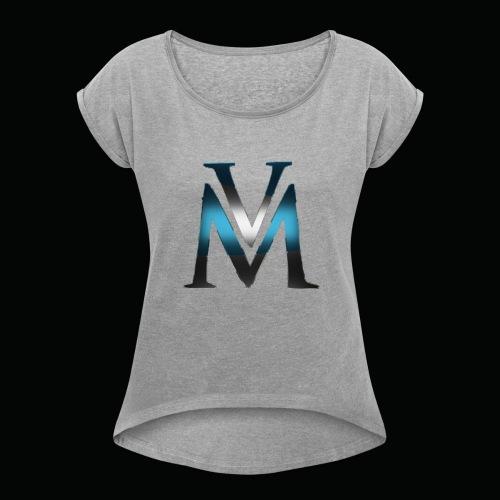 Viaman stoffveske - T-skjorte med rulleermer for kvinner