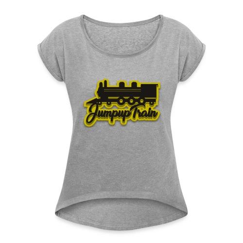 JUMPUPTRAIN - Vrouwen T-shirt met opgerolde mouwen