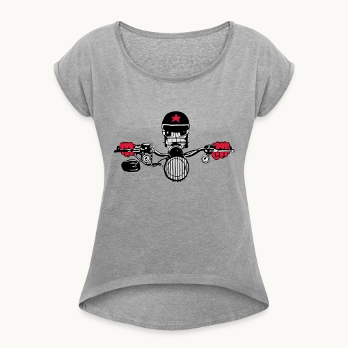 Motard Micky on the Road - T-shirt à manches retroussées Femme