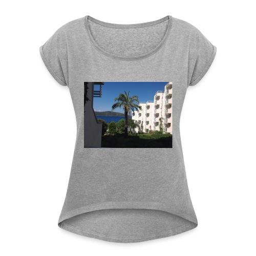 IMG 0695 - Dame T-shirt med rulleærmer