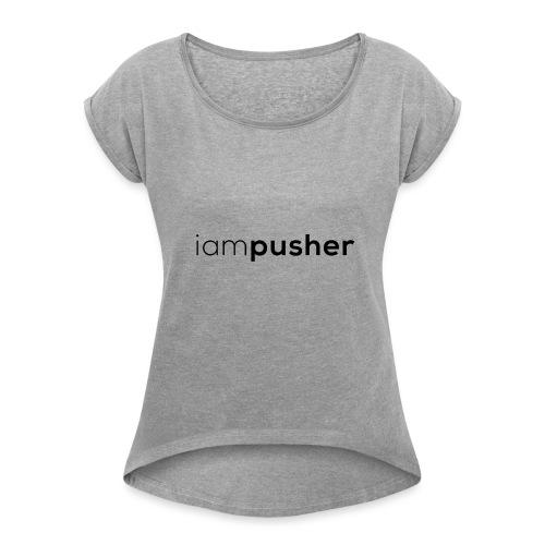 IAMPUSHER - Maglietta da donna con risvolti