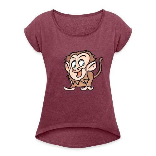 Aap - Vrouwen T-shirt met opgerolde mouwen
