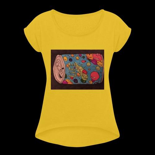7AABC614 53CA 4156 B765 D9FBF5B8E496 - Dame T-shirt med rulleærmer