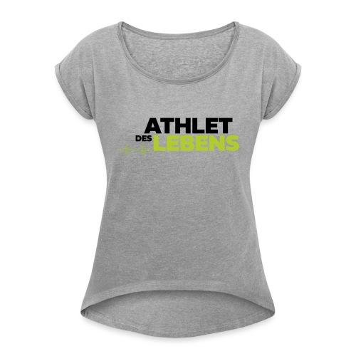 AdL Logo ws 2019 300px - Frauen T-Shirt mit gerollten Ärmeln