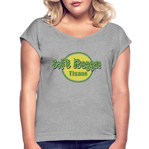 soft reggae tisane (fort contraste) - T-shirt à manches retroussées Femme
