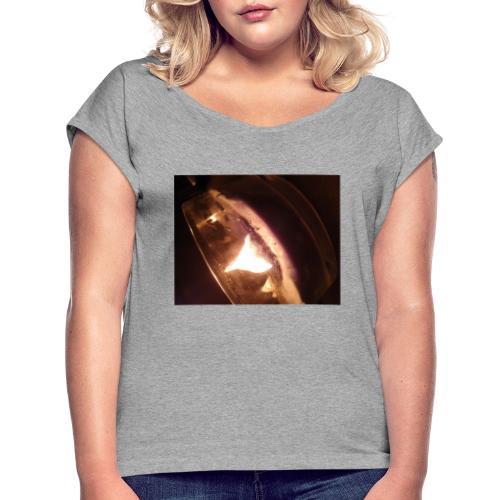 15834333759434037780863619274808 - Frauen T-Shirt mit gerollten Ärmeln