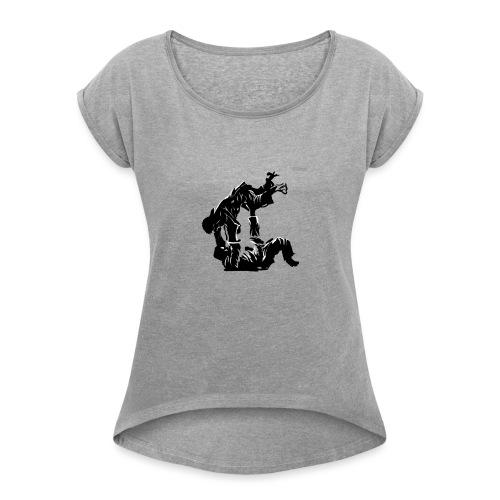 Jutsu v2 - Vrouwen T-shirt met opgerolde mouwen