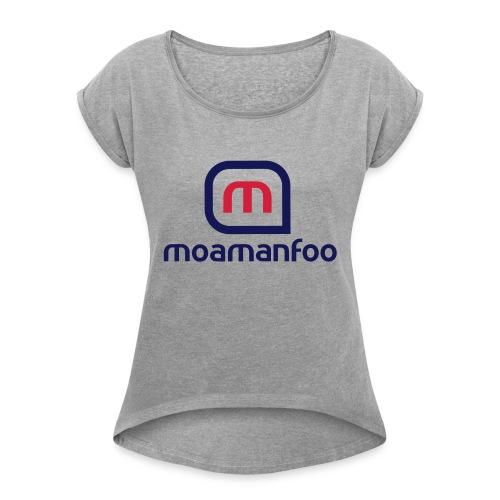 Moamanfoo - T-shirt à manches retroussées Femme