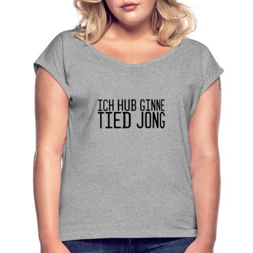 Ginne tied - Vrouwen T-shirt met opgerolde mouwen