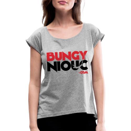 BungyNiouc Logo - T-shirt à manches retroussées Femme