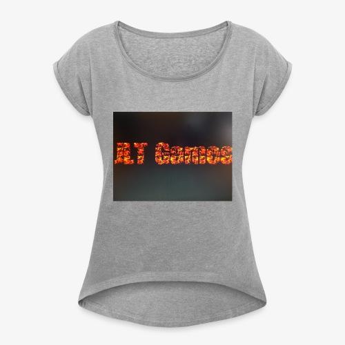 JLT Games - T-shirt med upprullade ärmar dam