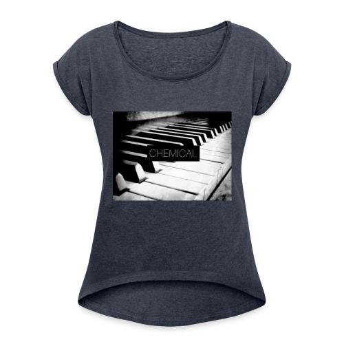 Piano black&White - Maglietta da donna con risvolti