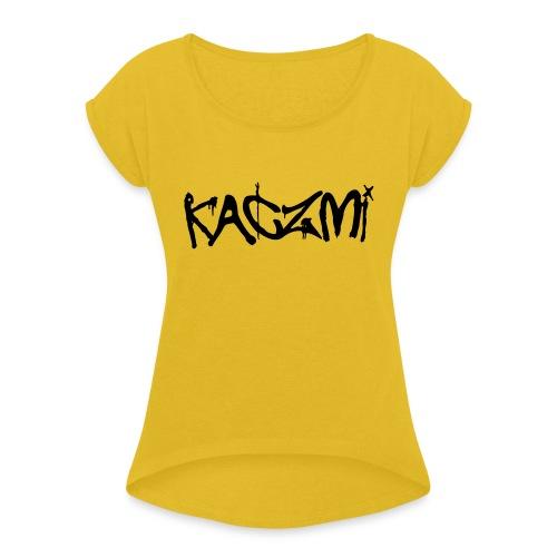 kaczmi - Koszulka damska z lekko podwiniętymi rękawami