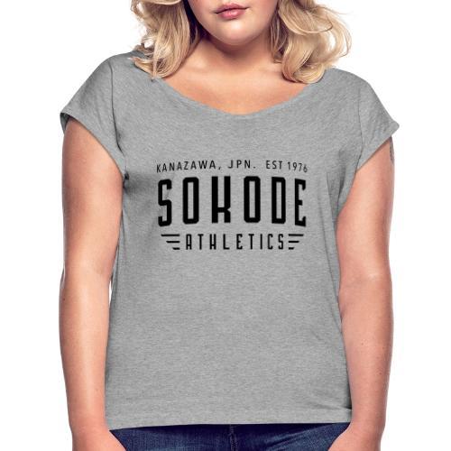Sokode Athletics - T-shirt med upprullade ärmar dam
