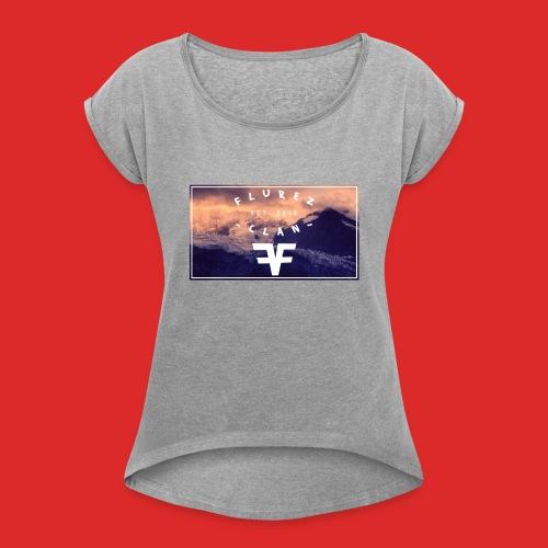 Männer Pullover & Hoodies - Frauen T-Shirt mit gerollten Ärmeln