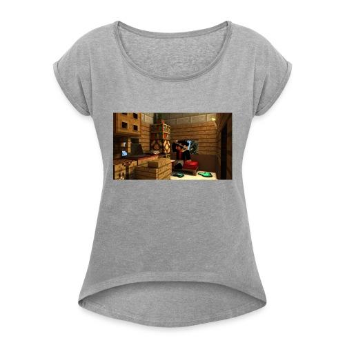 TRadeOfNorway T-Skjorte - T-skjorte med rulleermer for kvinner