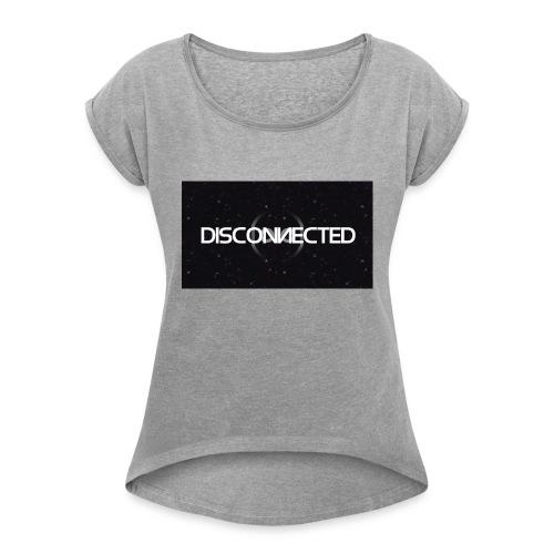 Disconnected Full name - Vrouwen T-shirt met opgerolde mouwen