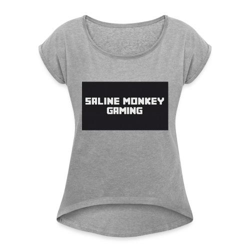 Saline monkey gaming tröja - T-shirt med upprullade ärmar dam