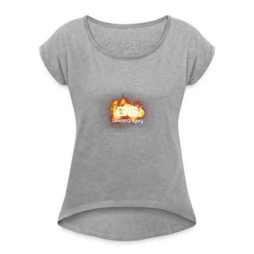 gewoongregory - Vrouwen T-shirt met opgerolde mouwen