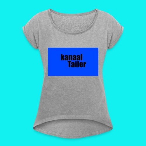 5s hoesje - Vrouwen T-shirt met opgerolde mouwen